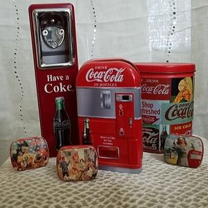 Coca-Cola Tins and Bottle Opener